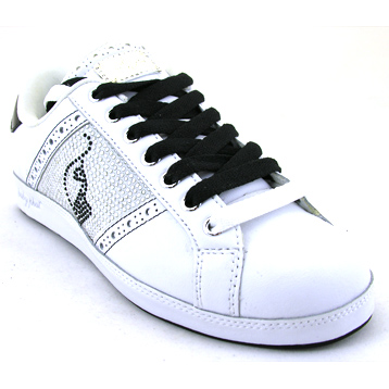 Life Desire White/Black/Silver Trainer
