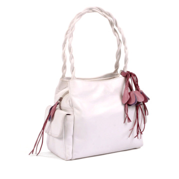 Plait Handle Bag with Side Pocket