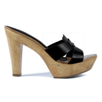 Queen Vachetta High Heel Mule